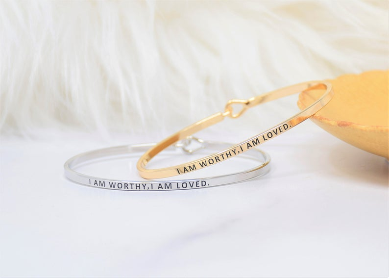 I AM WORTHY & LOVED BRACELET