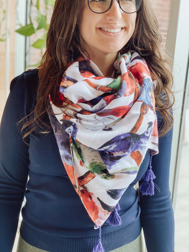 PARROT SPRING SCARF