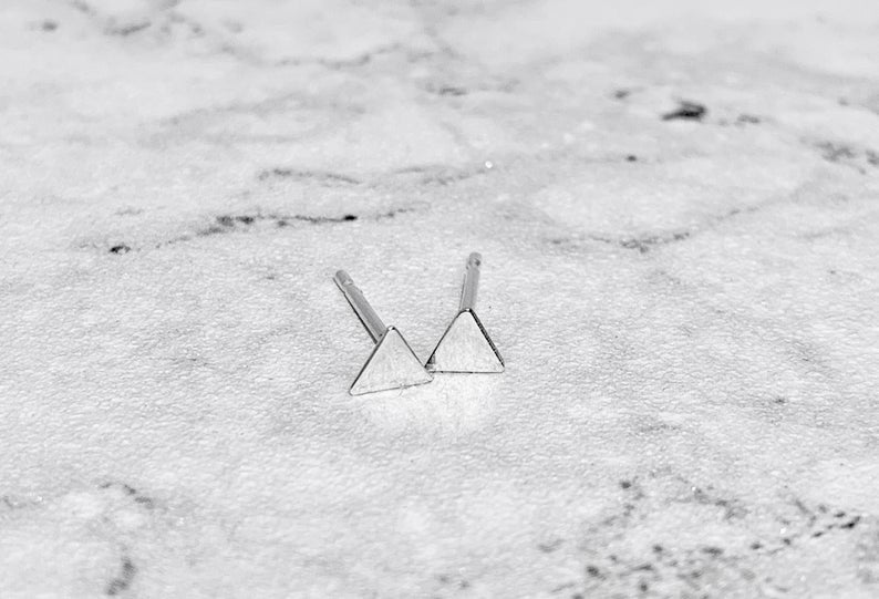 TEENY TRIANGLE STUDS
