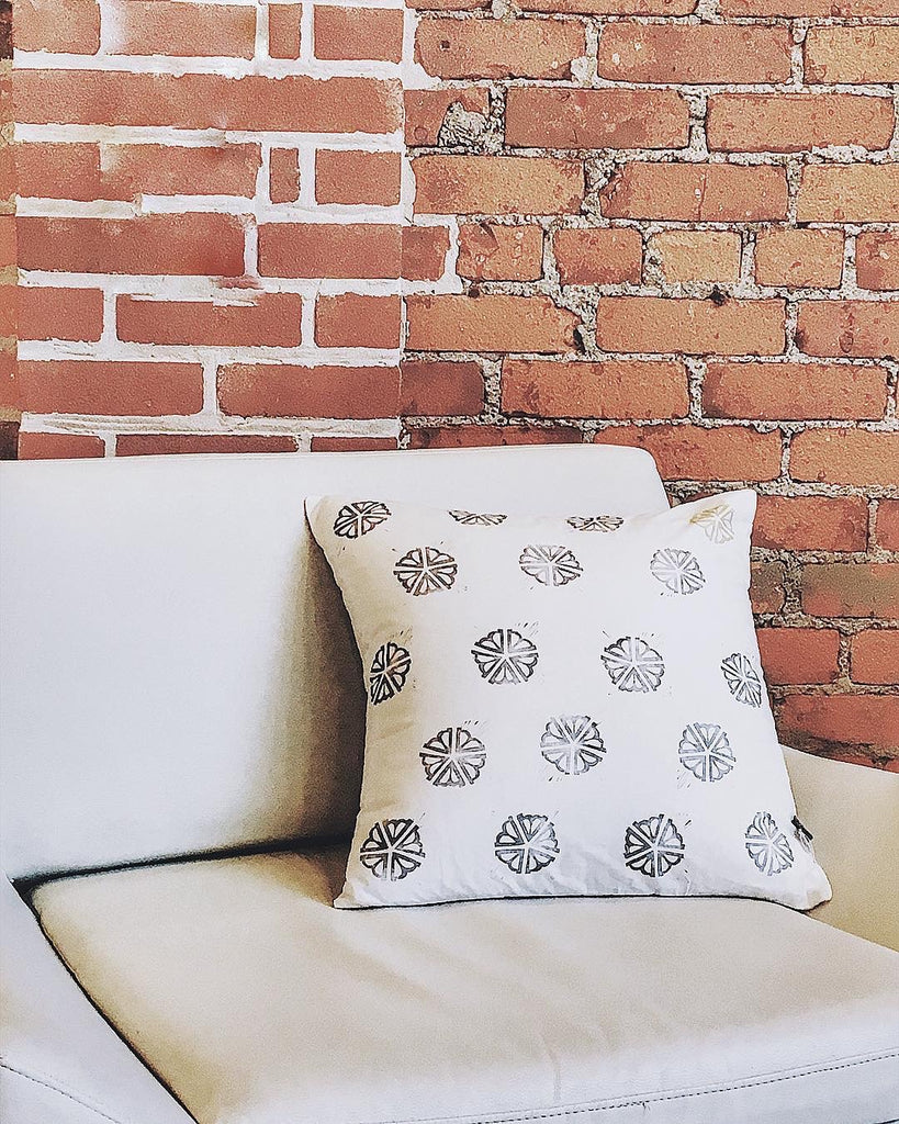 ROC STAMPED PILLOW COVER