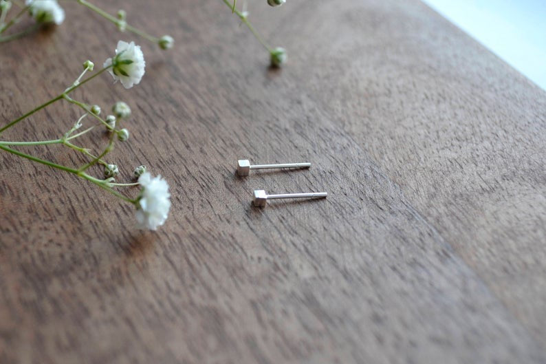 TEENY CUBE EARRINGS