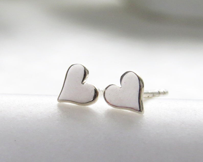 TEENY HEART EARRINGS