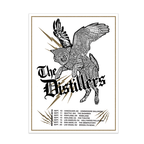 2018 SEPTEMBER TOUR POSTER - The Distillers