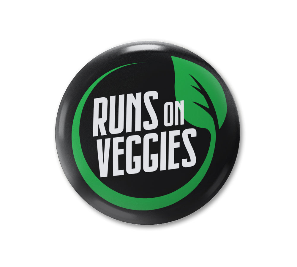 Runs On Veggies - Badge
