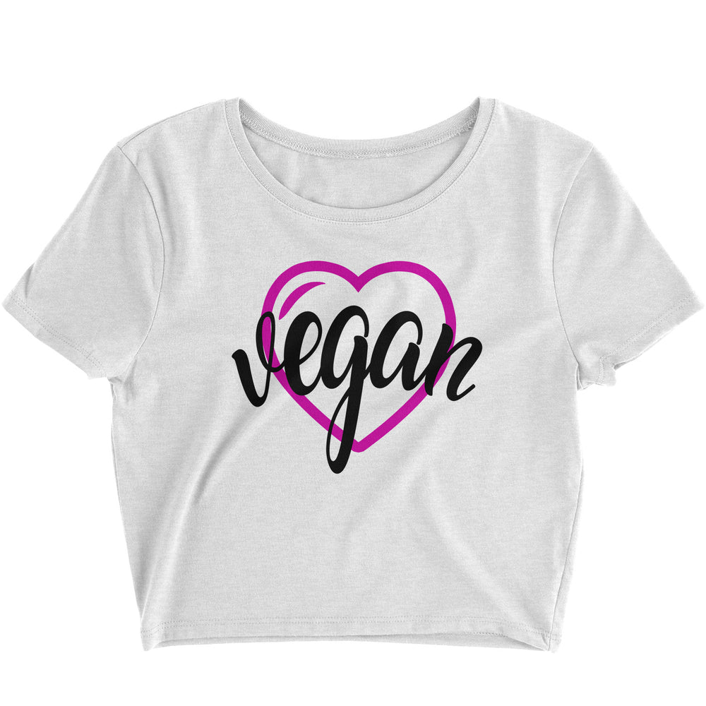 VEGAN HEART - CROP TOP