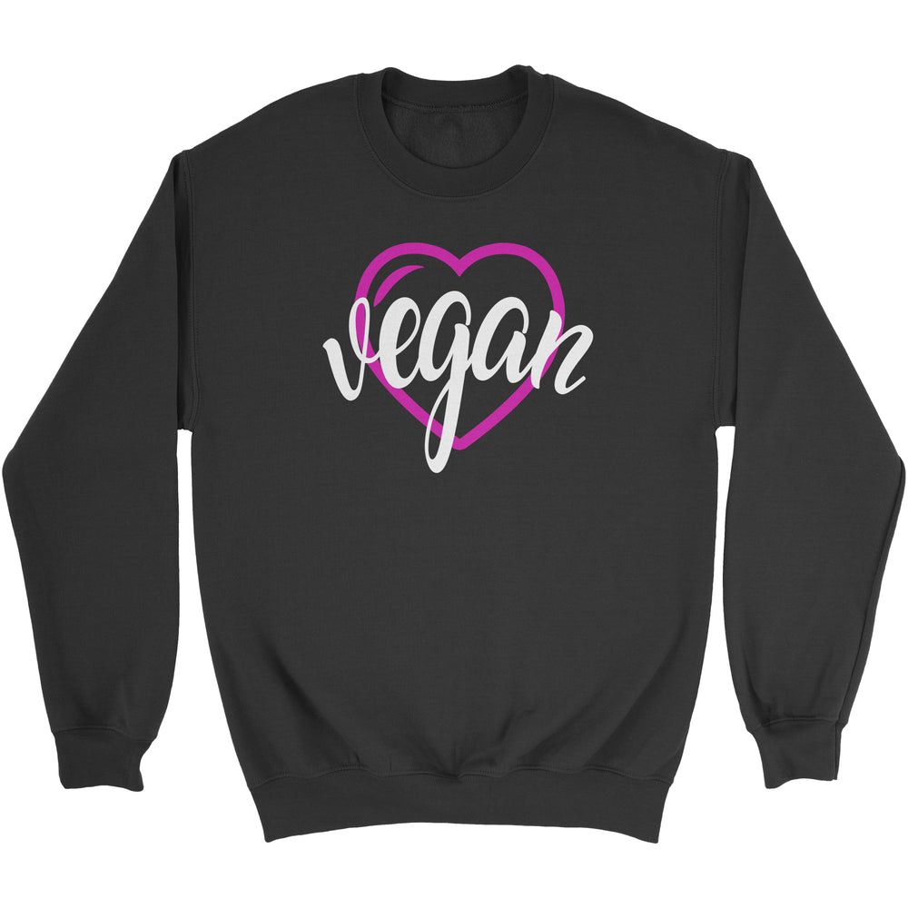 VEGAN HEART - UNISEX SWEATSHIRT