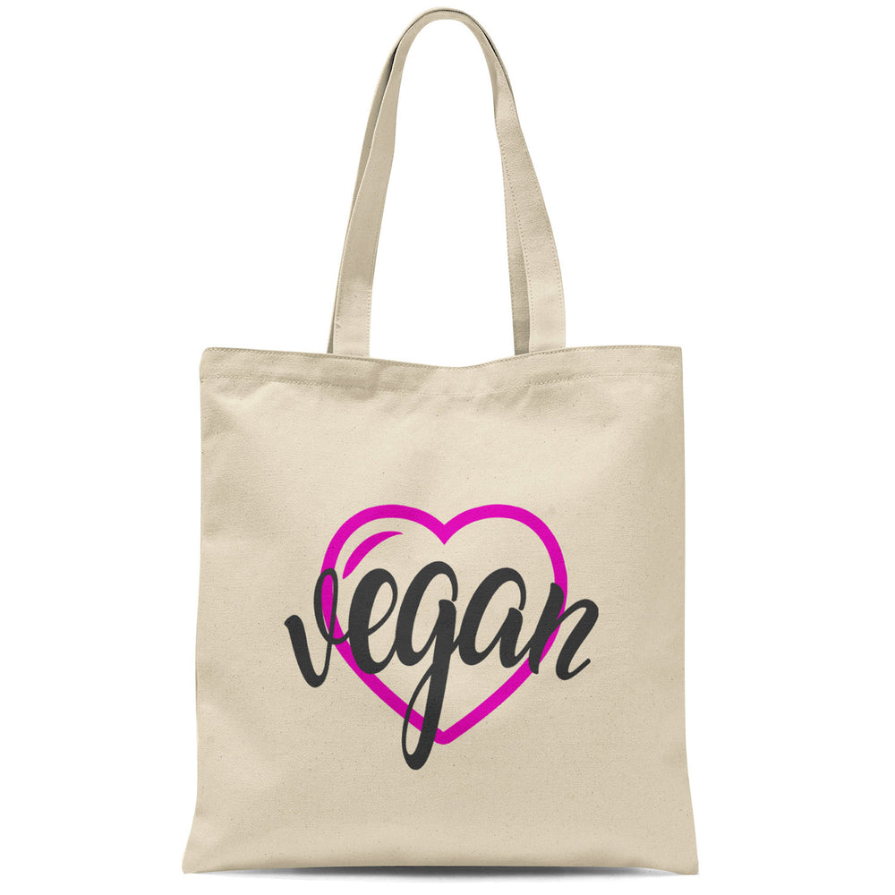 VEGAN HEART TOTE BAG