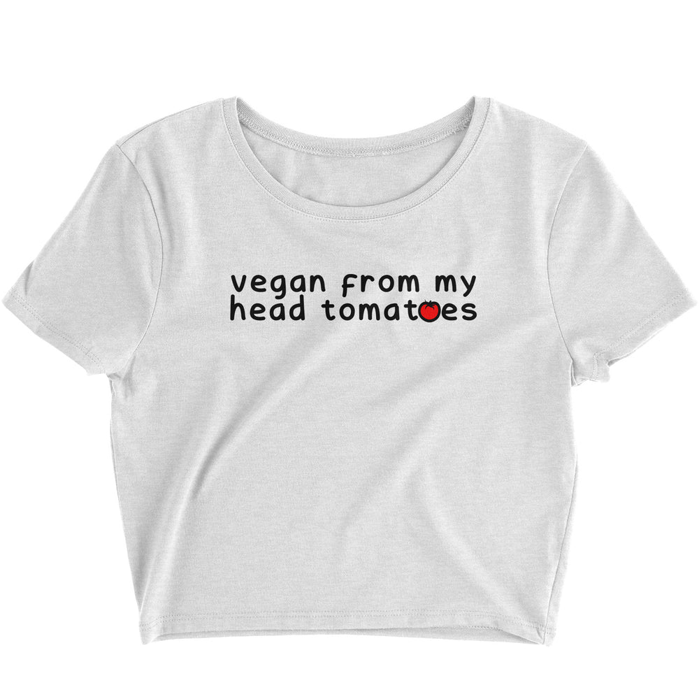 Vegan From My Head Tomatoes - Crop Top