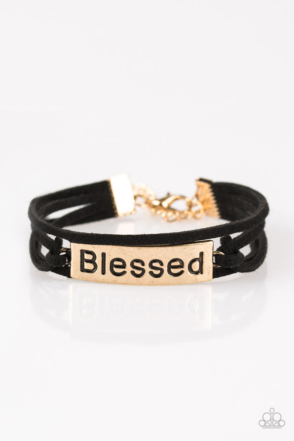 Feeling Blessed - Gold - The Glitter Lane