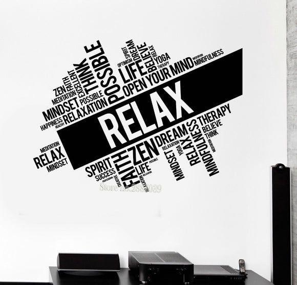 Relax Wall Decal Quotes Cloud