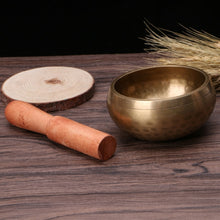 Load image into Gallery viewer, Hand Hammered Buddism Singing Bowl