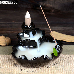Buddha Statue Incense Burner + 10 Incense Cones