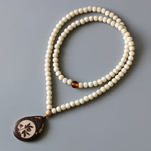 Load image into Gallery viewer, Ivory White Tagua Nut Necklace