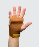 4 finger grips in leather color Tan - Victory Grip used for Crossfit gymnastic pullups, muscle ups and barbell work