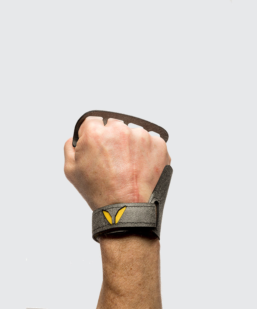 4 finger grips in Stealth material - Victory Grip used for Crossfit gymnastic pullups, muscle ups and barbell work