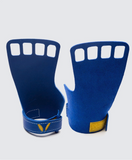 4 finger grips in leather color Blue - Victory Grip used for Crossfit gymnastic pullups, muscle ups and barbell work.