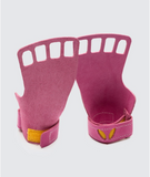 4 finger grips in leather color Pink - Victory Grip used for Crossfit gymnastic pullups, muscle ups and barbell work.