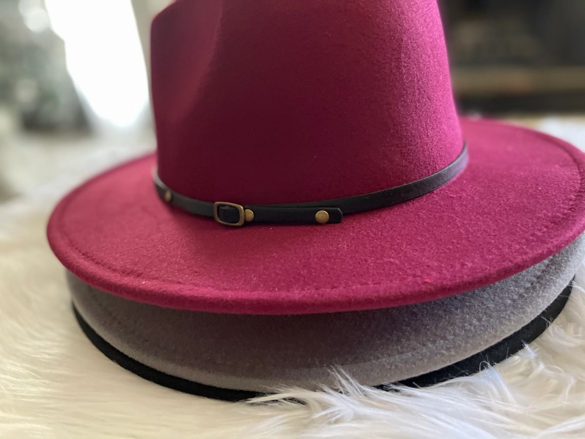 Red Bottom Fedora Hat ( 3 colors)
