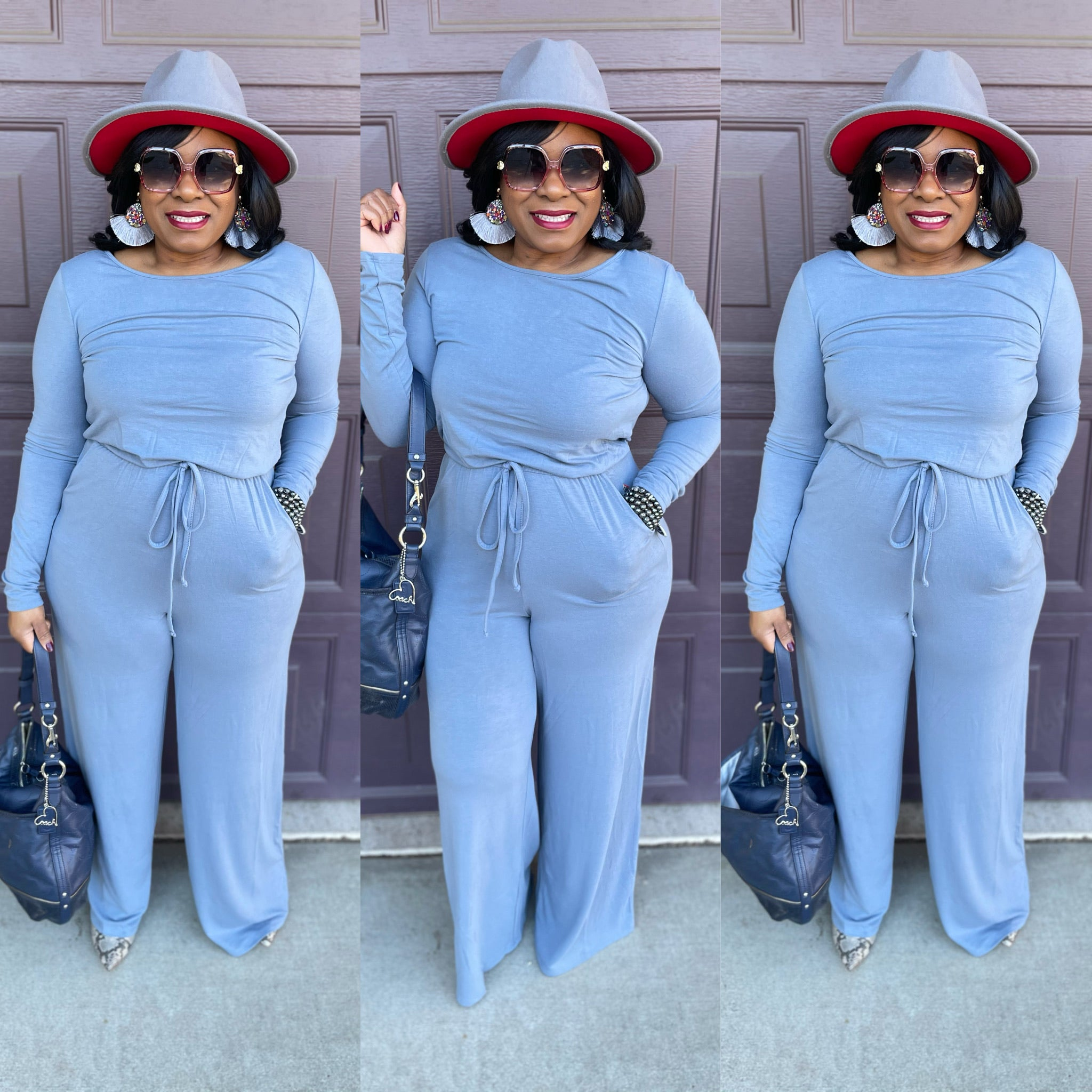 Terry Long sleeve Jumpsuit ( 3 colors)