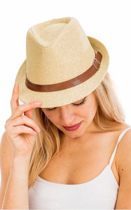 Soft Straw Fedora Hats