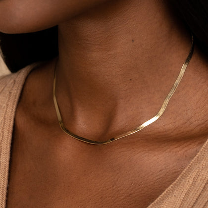 Ol' Skool Herringbone Necklace