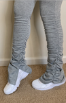 "Comfy Stacked Pants ""GREY"
