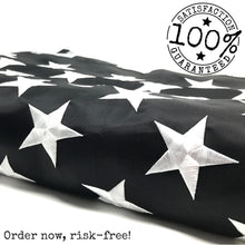 Load image into Gallery viewer, Thin Blue Line Flag 3x5 ft with a Bonus Car Sticke - Embroidered Stars and Sewn Stripes - Brass Grommets - UV Protection - Blue Lives Matter Flag Honoring Law Enforcement Officers