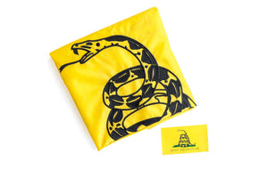 Don't Tread on Me Gadsden Flag 3x5 for Outdoors - All-Weather Heavy Duty Rebel Flag with Magnificent Double-Sided Embroidery - UV Protected - Brass Grommets - Comes with Bonus Car Sticker