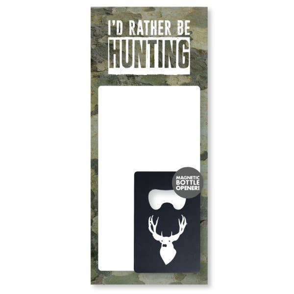 Hunting - Notepad and Bottle Opener