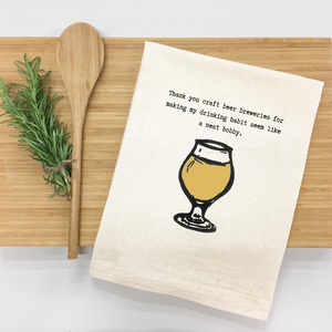 Thank You, Craft Beer Tea Towel