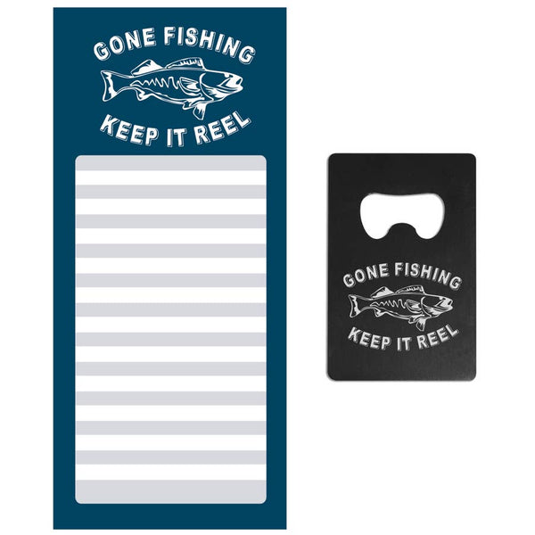 Fishing - Notepad and Bottle Opener