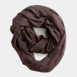 Infinity Cotton Scarf - Coffee