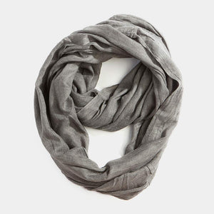 Infinity Cotton Scarf - Moss Green