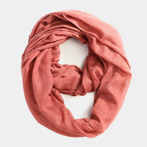 Infinity Cotton Scarf - Cinnamon