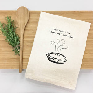 I Bake and Know Things, Tea Towel