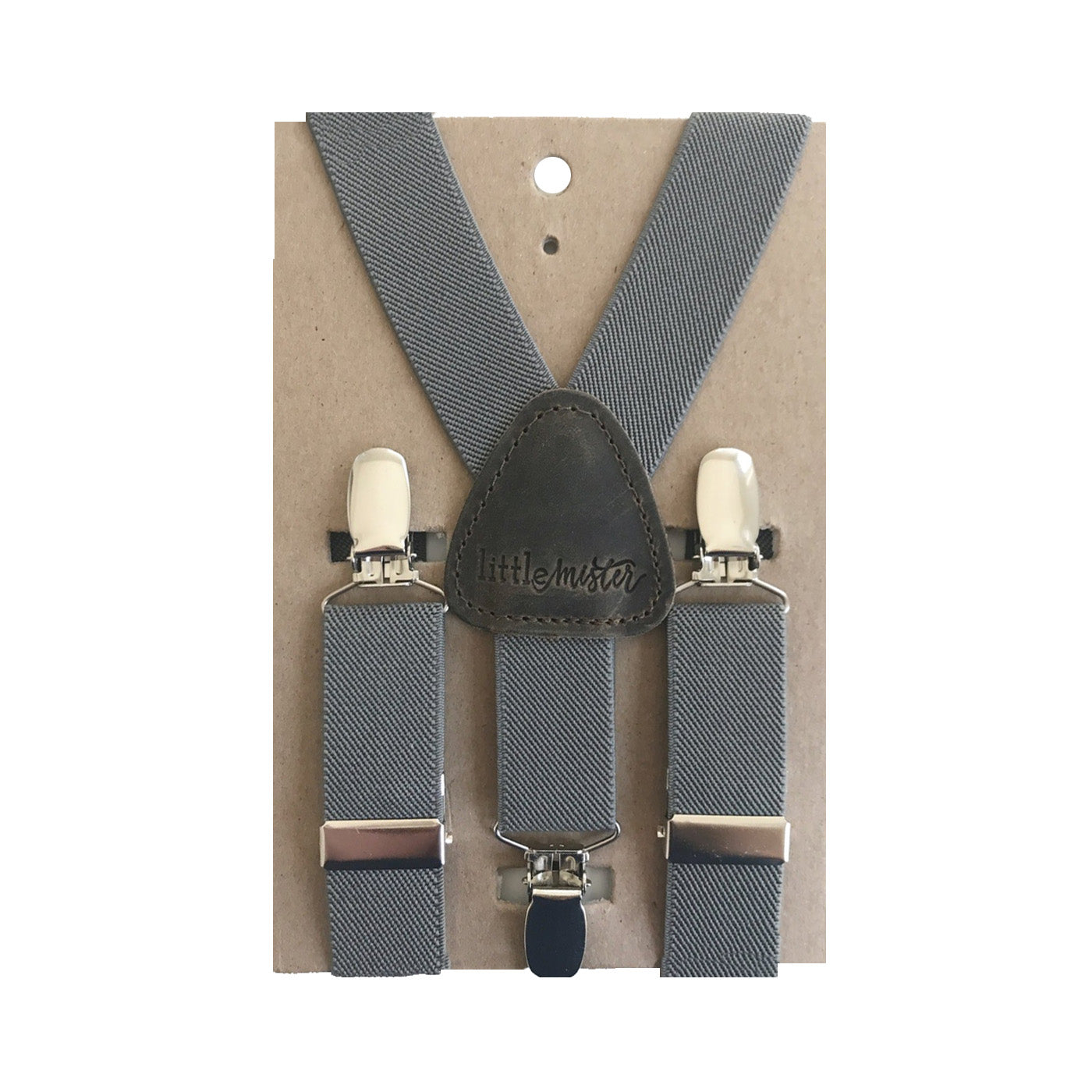 Suspenders - Charcoal -SMALL
