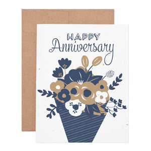 Anniversary Flower Bouquet Seeded Plantable Notecard