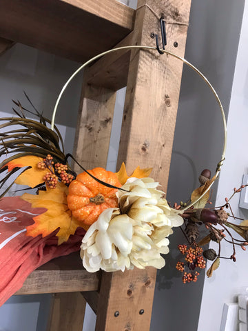 Pumpkin Floral Wreath