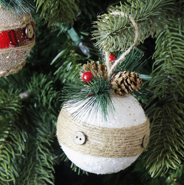 Rustic Sequins Ornament Ball