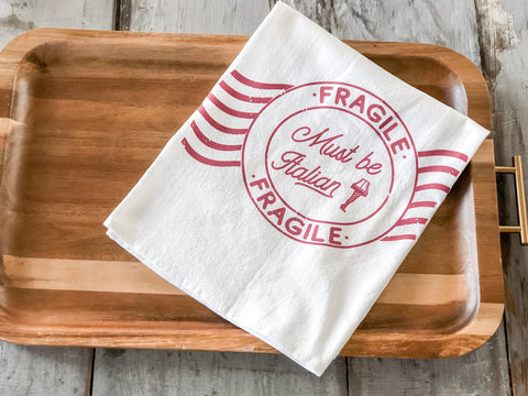 Fragile Tea Towel