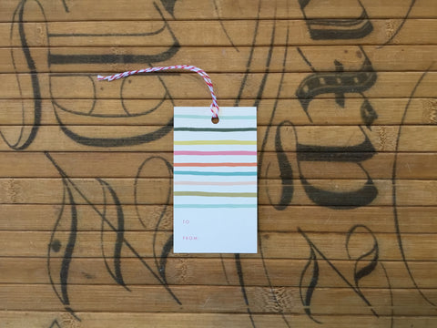 Gift Tags, Colored Stripes