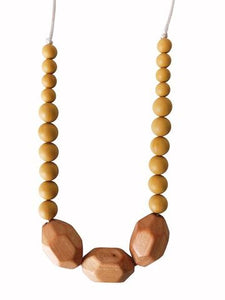 Teething Necklace: The Austin - Mustard