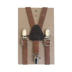 Suspenders - Leather - MED