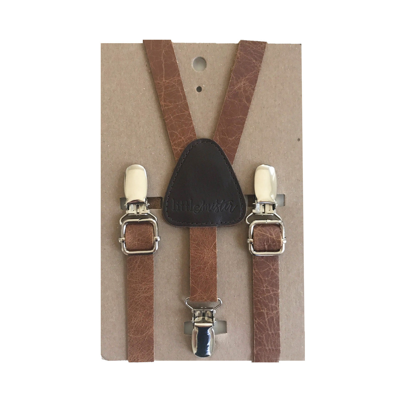 Suspenders - Leather - SMALL