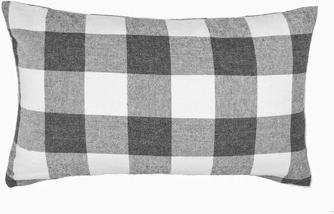 Buffalo Check Gray Lumbar Pillow