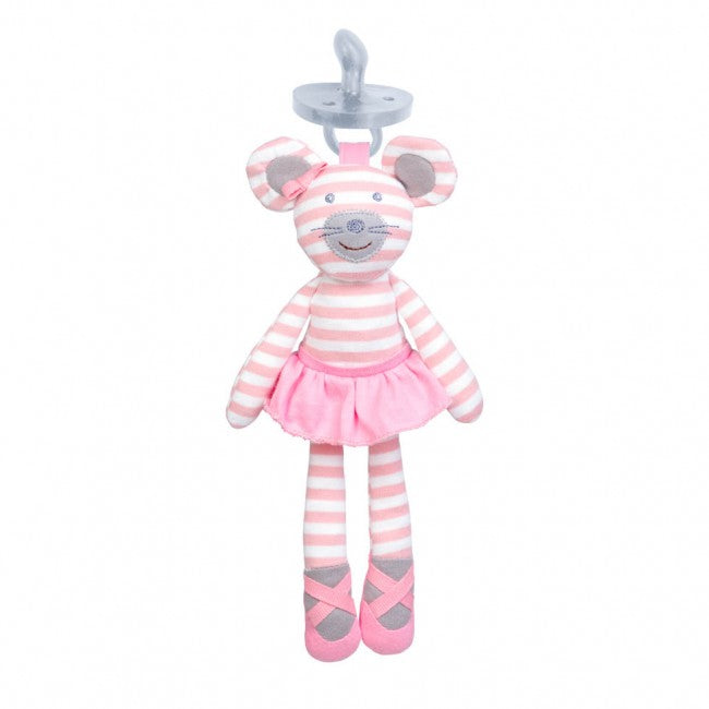 Pacifier Buddy - Ballerina Mouse
