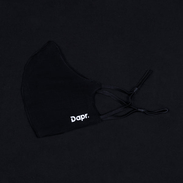 100 % Cotton Adjustable Face Mask by Dapr. |Made in India| - Black