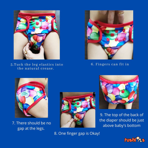 How to put the InfiniT AIO overnight diaper on the baby