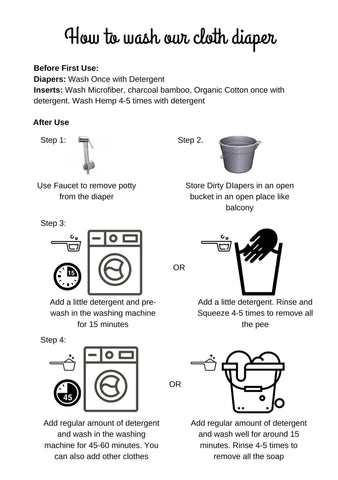 How to wash your cloth diaper?