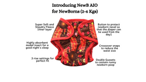 NewB AIO - Pirate party (For Newborns 2-6 Kgs)